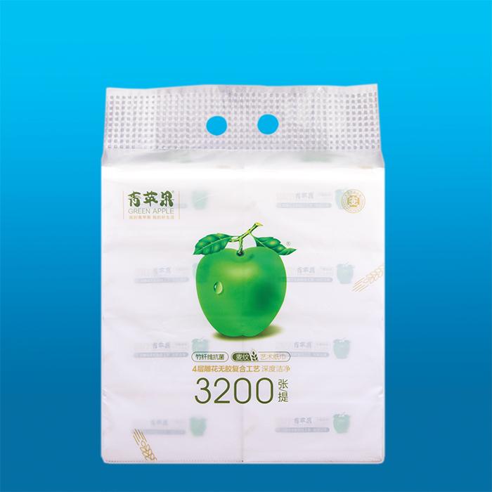 青蘋果竹纖維麥紋藝術紙巾1036