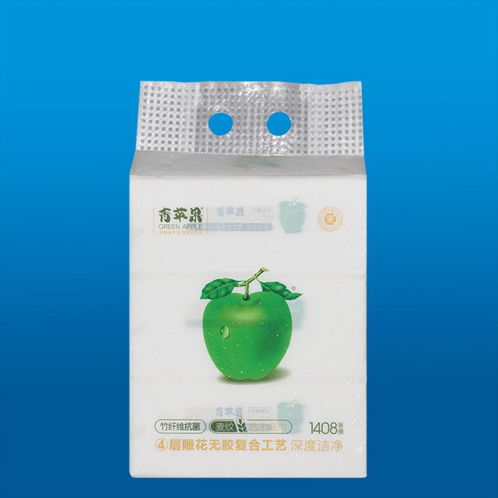 青蘋果抗菌麥紋藝術紙巾1081